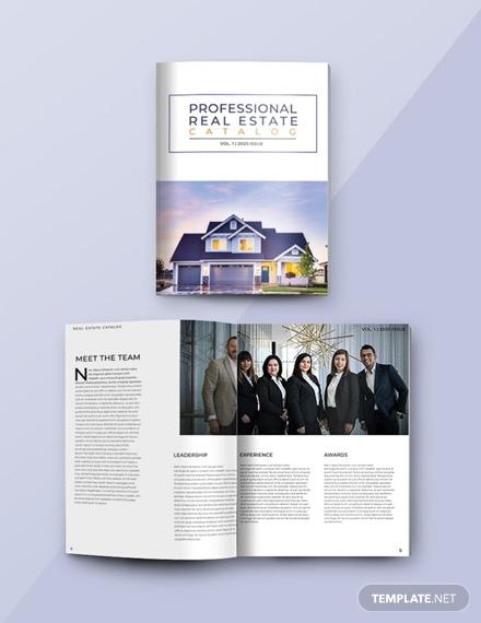 free professional catalog template 1x