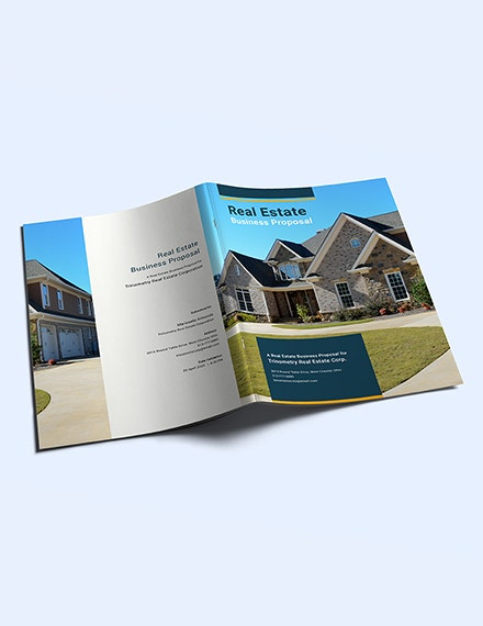 free real estate business proposal template 1 1x