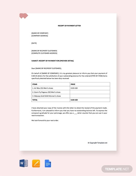 Pending Payment Letter 8 Free Word Pdf Documents