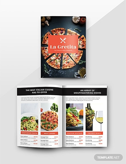 free restaurant catalog template 1x 2