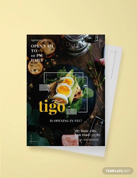 free restaurant invitation template