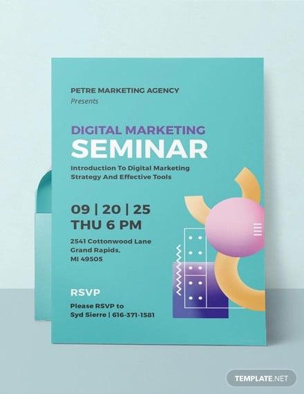 free seminar invitation template