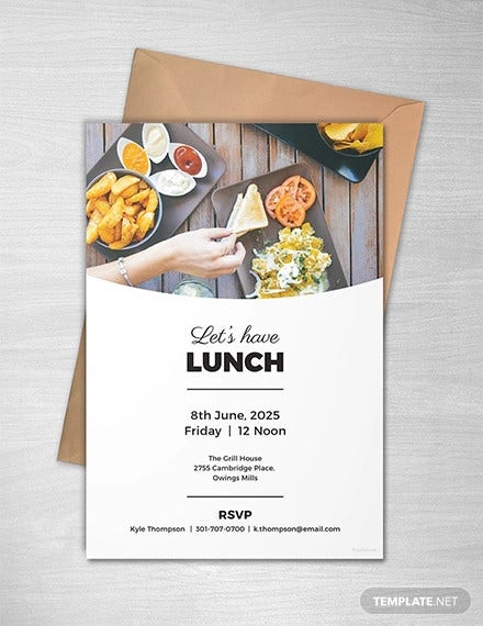 free simple lunch invitation template