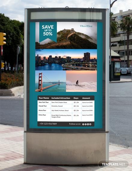 free travel deals digital signage template 1