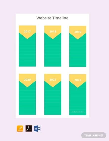 free website timeline template