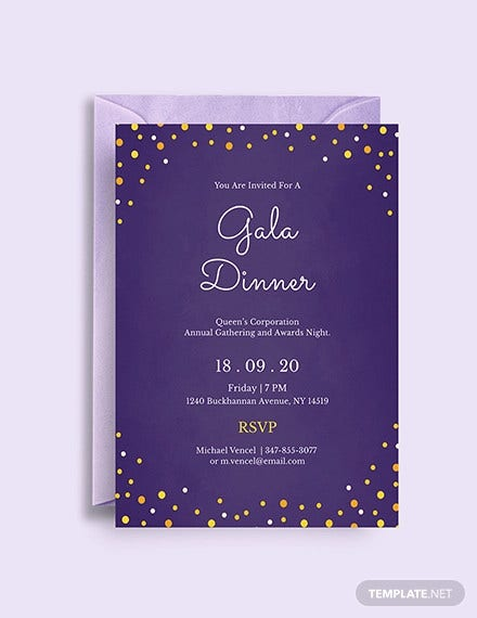gala dinner night invitation