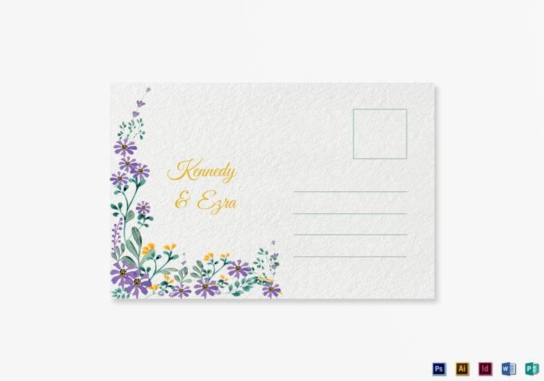 garden wedding postcard publisher template 788x552