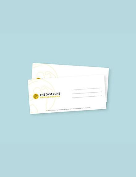 gym envelope design in illustrator