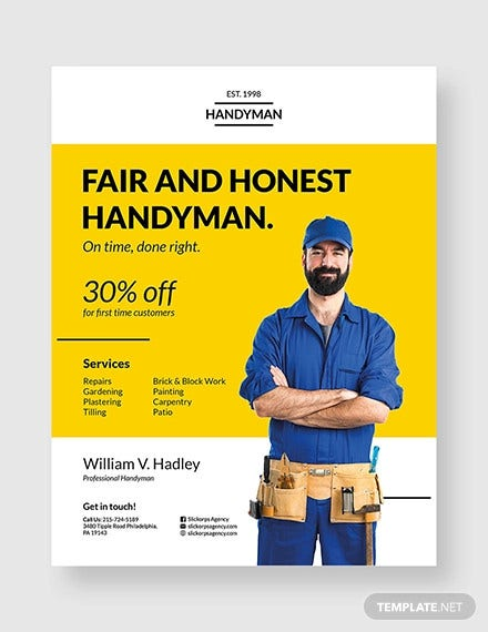 handyman construction flyer