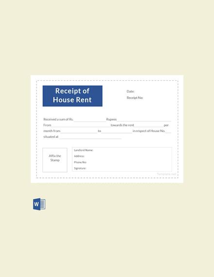 house rent receipt