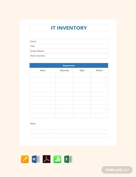 it inventory template