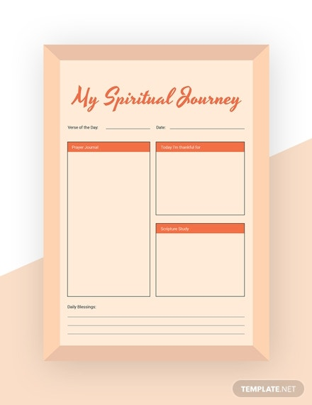 inspirational journal template in psd