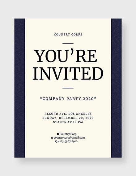 invitation flyer template in word