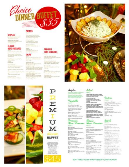 iron city catering menu design
