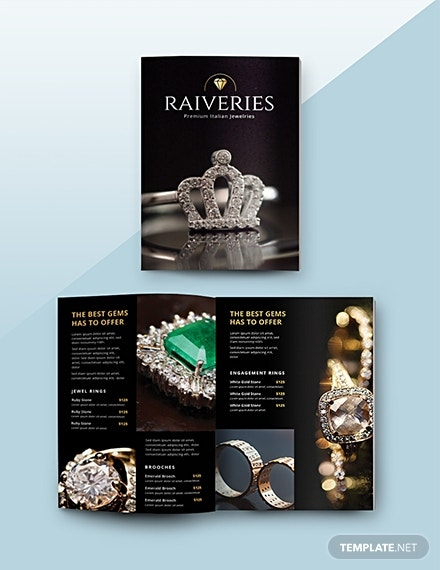 jewelry catalog illustrator template