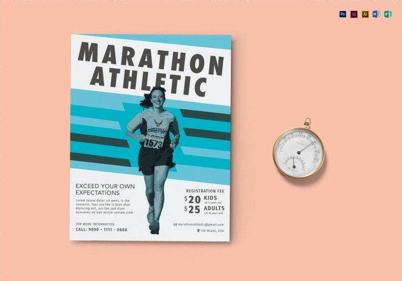 marathon flyer template in illustrator 788x552