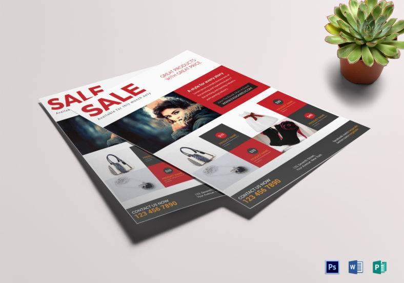 mega sale flyer template in publisher 788x552