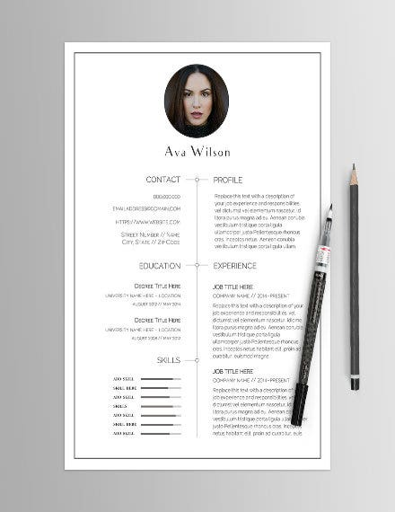 minimalist-resume-template-with-photo