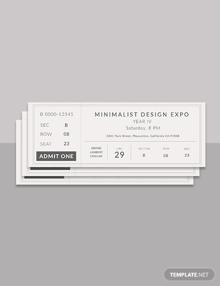 minimalist ticket illustrator template