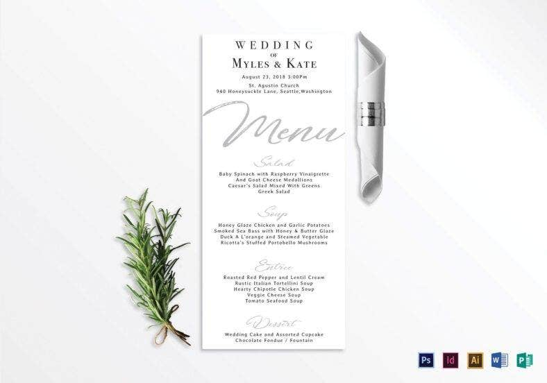 minimalist wedding menu card template 788x552