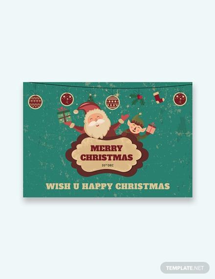 modern christmas greeting card template 1x
