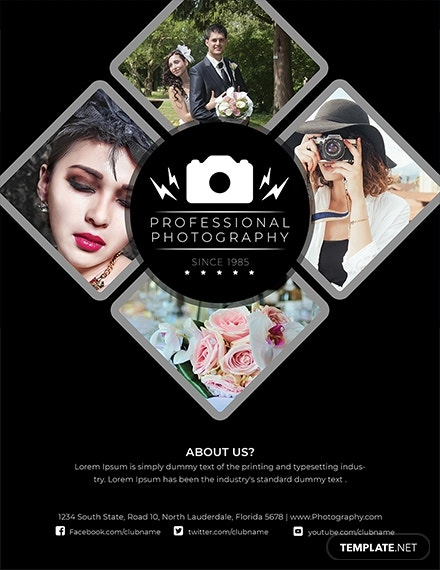 modern photography flyer template in publisher