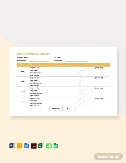 21 Excel Monthly Budget Templates Free Premium Templates
