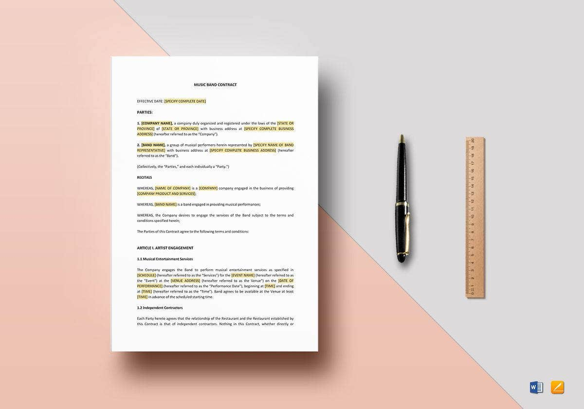 music band contract template1