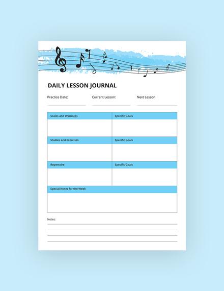 music journal notebook m1x 3