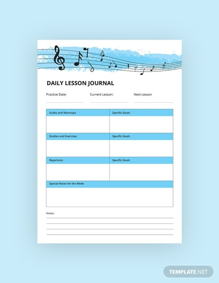 music journal template