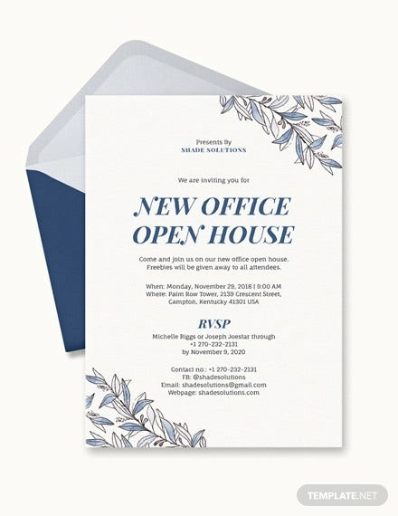 office invitation template
