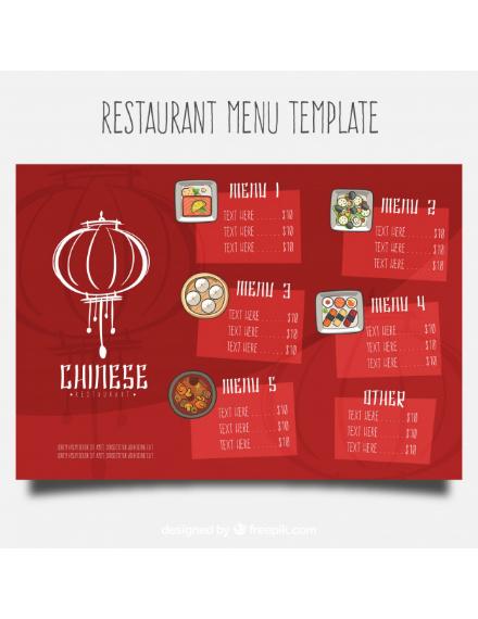 oriental chinese food menu design
