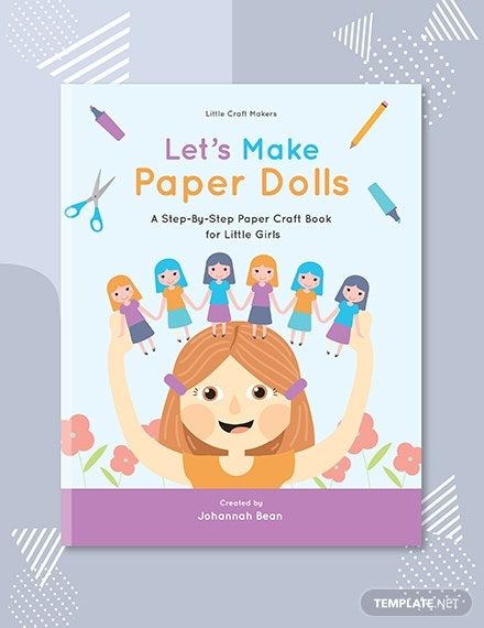 paper craft book cover template