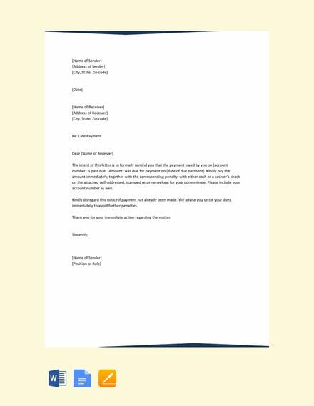 payment reminder letter