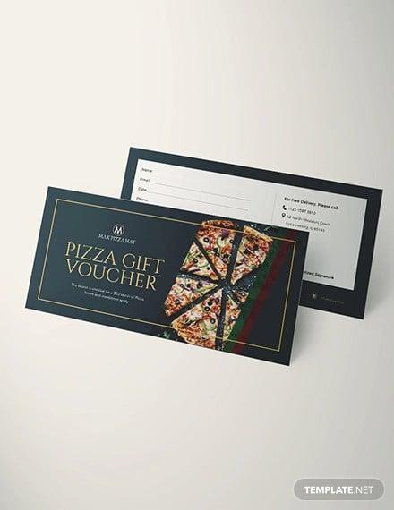 pizza voucher design