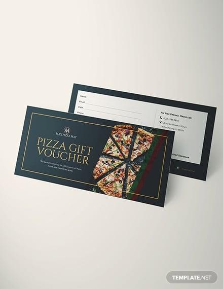 pizza voucher template