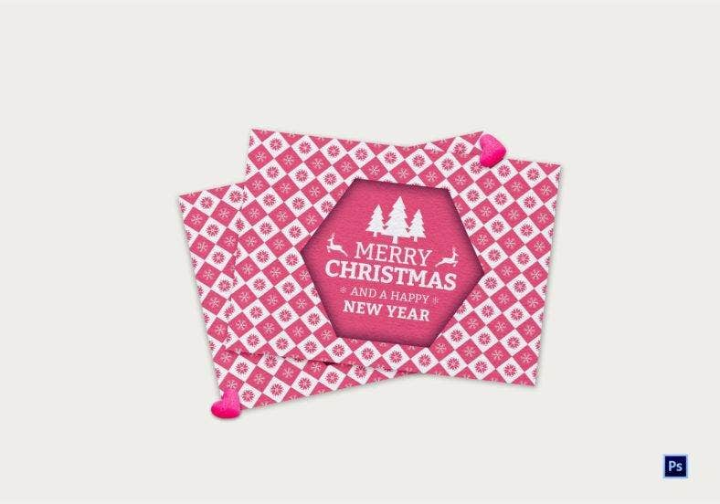 printable christmas thank you card template 788x552
