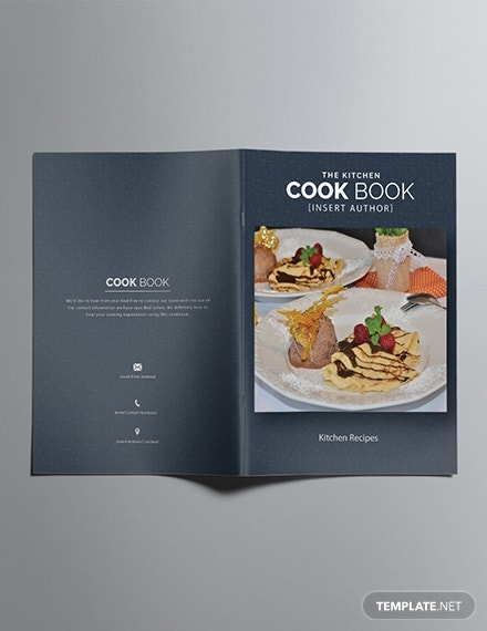printable cookbook catalog template in publisher