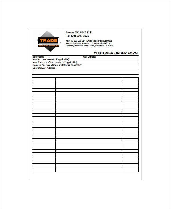 printable-customer-order-form