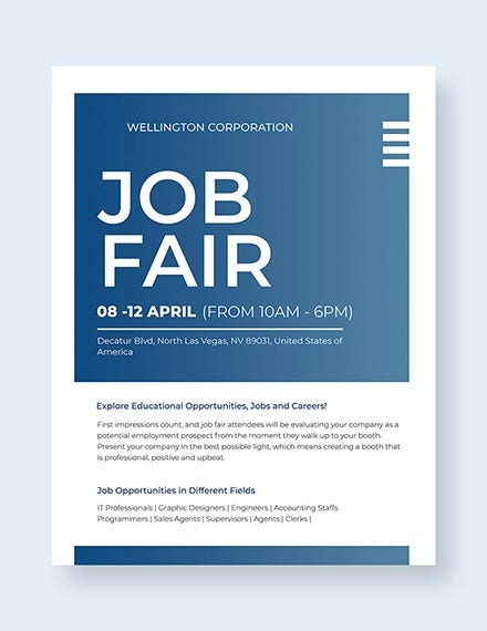 professional job fair template