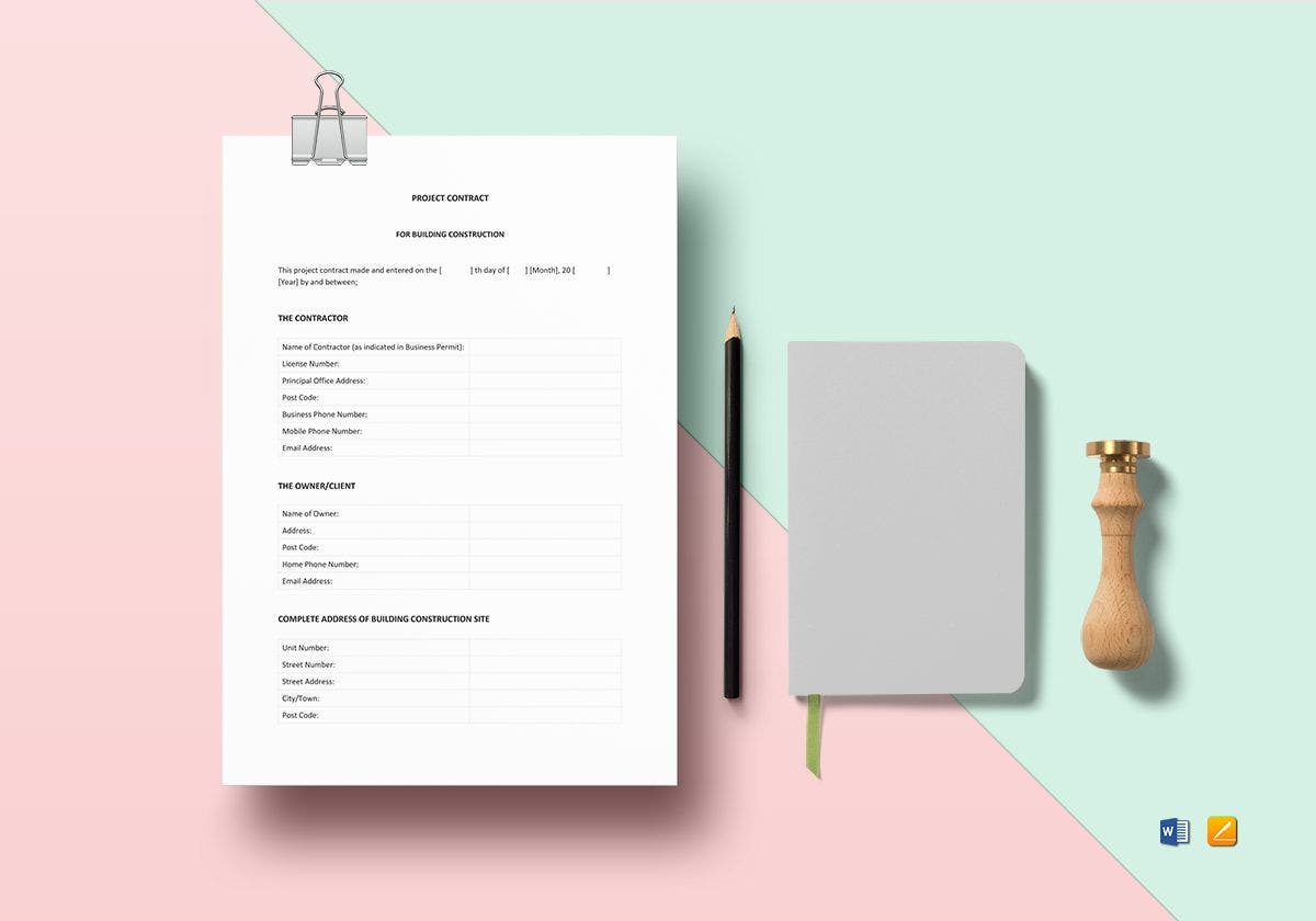 project contract mockup