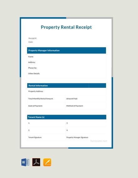 property rent receipt