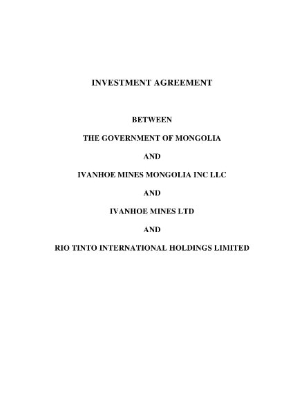 public investment contract