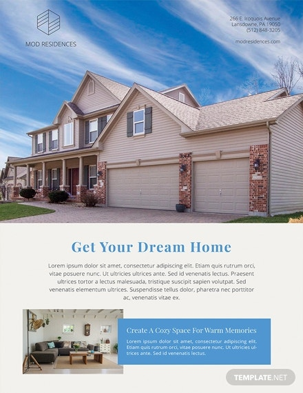 real estate advertising poster template in apple pages