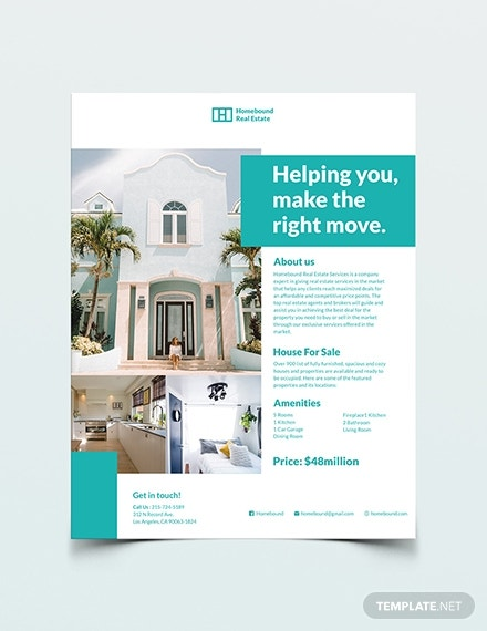 real estate marketing flyer template in publisher
