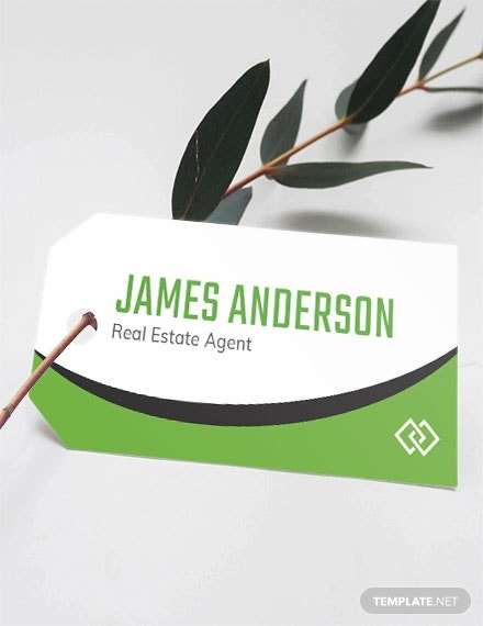 real estate name tag template