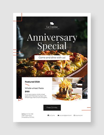 restaurant flyer template 1x