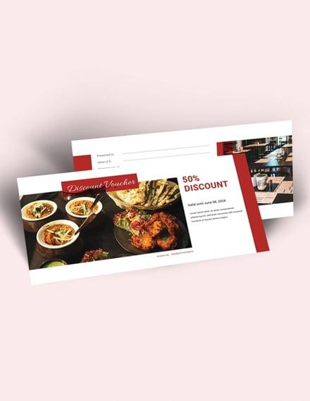 restaurant voucher word template