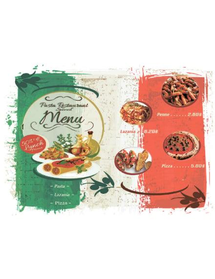 rustic italian restaurant menu layout