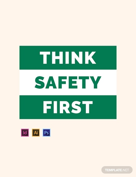 safety sign template in psd